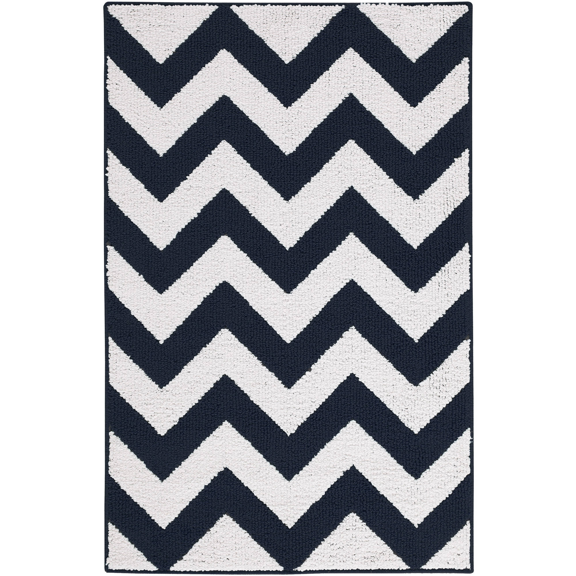 Mainstays Kids Chevron Pattern Area Rug Walmart Pertaining To Black And Grey Chevron Rugs (Image 14 of 15)