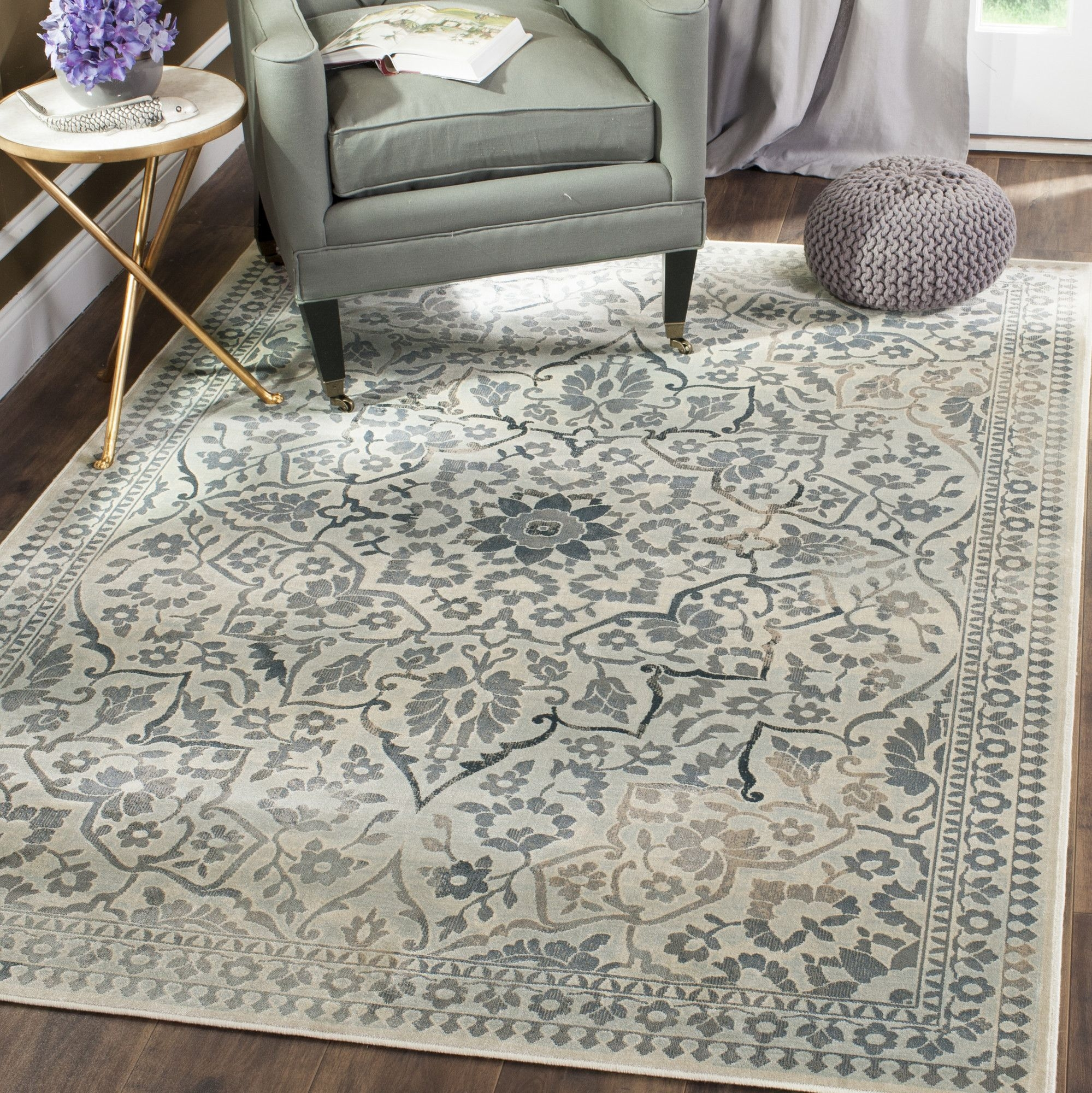 Malakoff Creamlight Blue Area Rug Products Pinterest Light Inside Light Blue And Cream Rugs (Image 8 of 15)