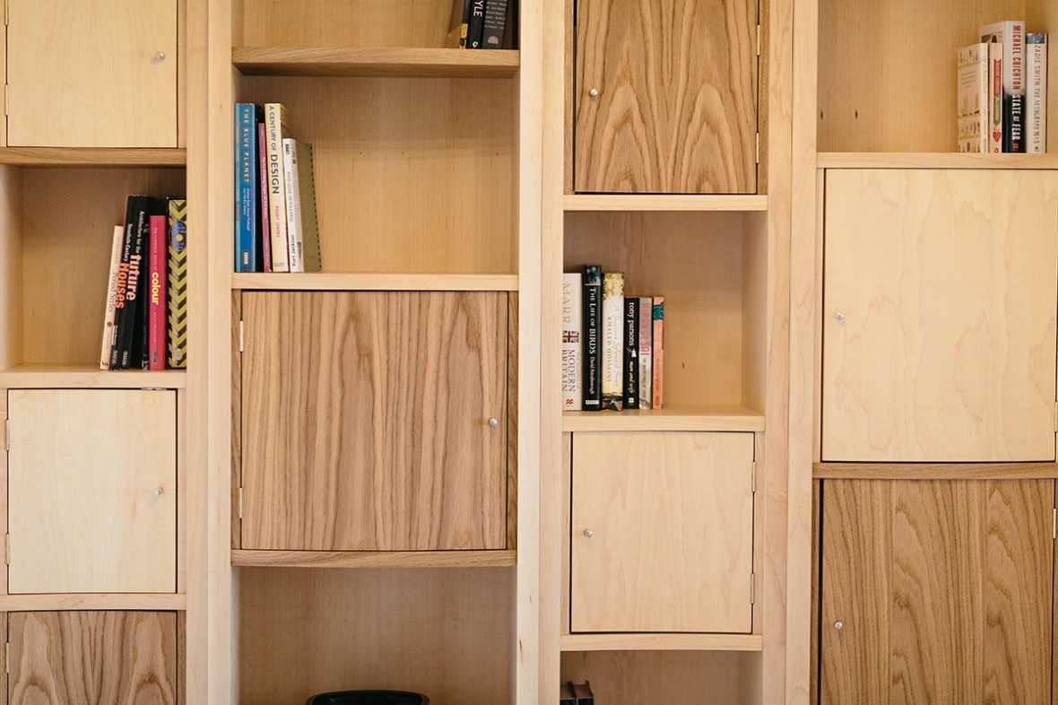 Maple And Oak Bespoke Shelving Hand Crafted And Made To Measure Throughout Shelves And Cupboards (Image 9 of 15)
