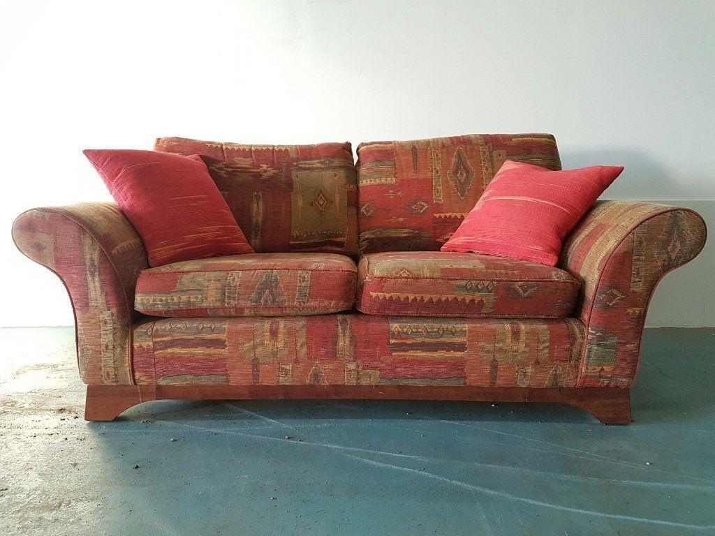 Marks Spencer Ms Fabric Sofa Settee Suite With Cushions In Marks And Spencer Sofas And Chairs (Image 11 of 15)