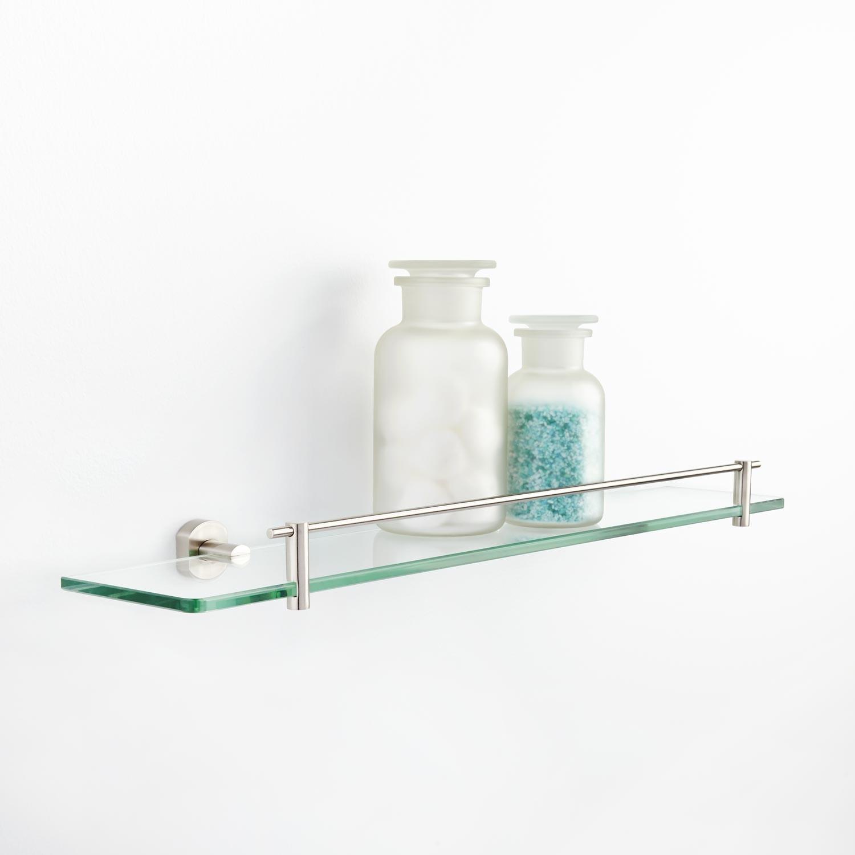 Marlton Tempered Glass Shelf Bathroom Throughout Glass Shelves (View 3 of 15)