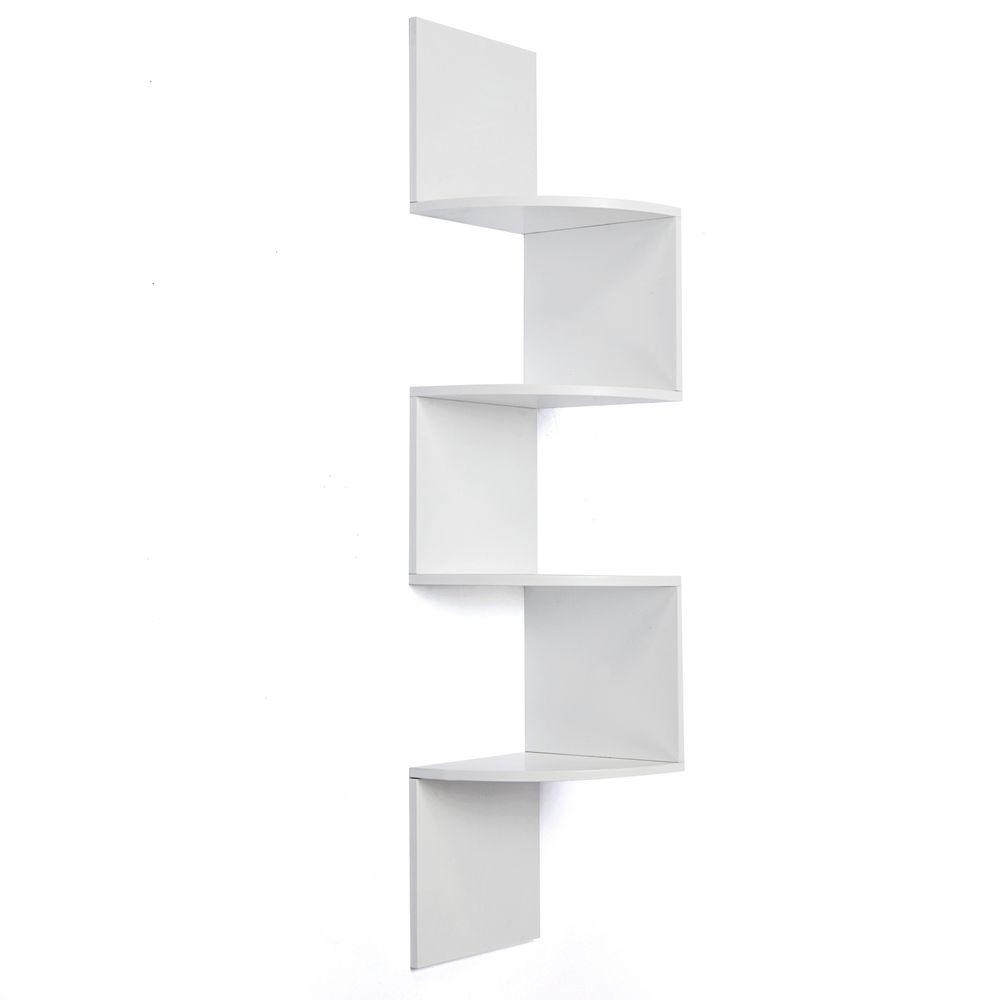 Martha Stewart Living 30 In Classic White Corner Shelf 3 Pack With Regard To Corner Shelf (Image 11 of 15)