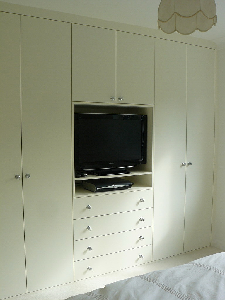 Master Bedroom Wall Built Ins Add Lots Of Closet Space And With Built In Wardrobes With Tv Space (Image 9 of 15)