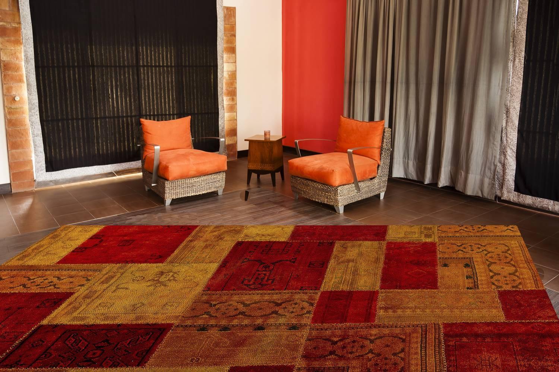 Mat Vintage Renaissance Area Rug Red Orange Intended For Orange Floor Rugs (View 11 of 15)