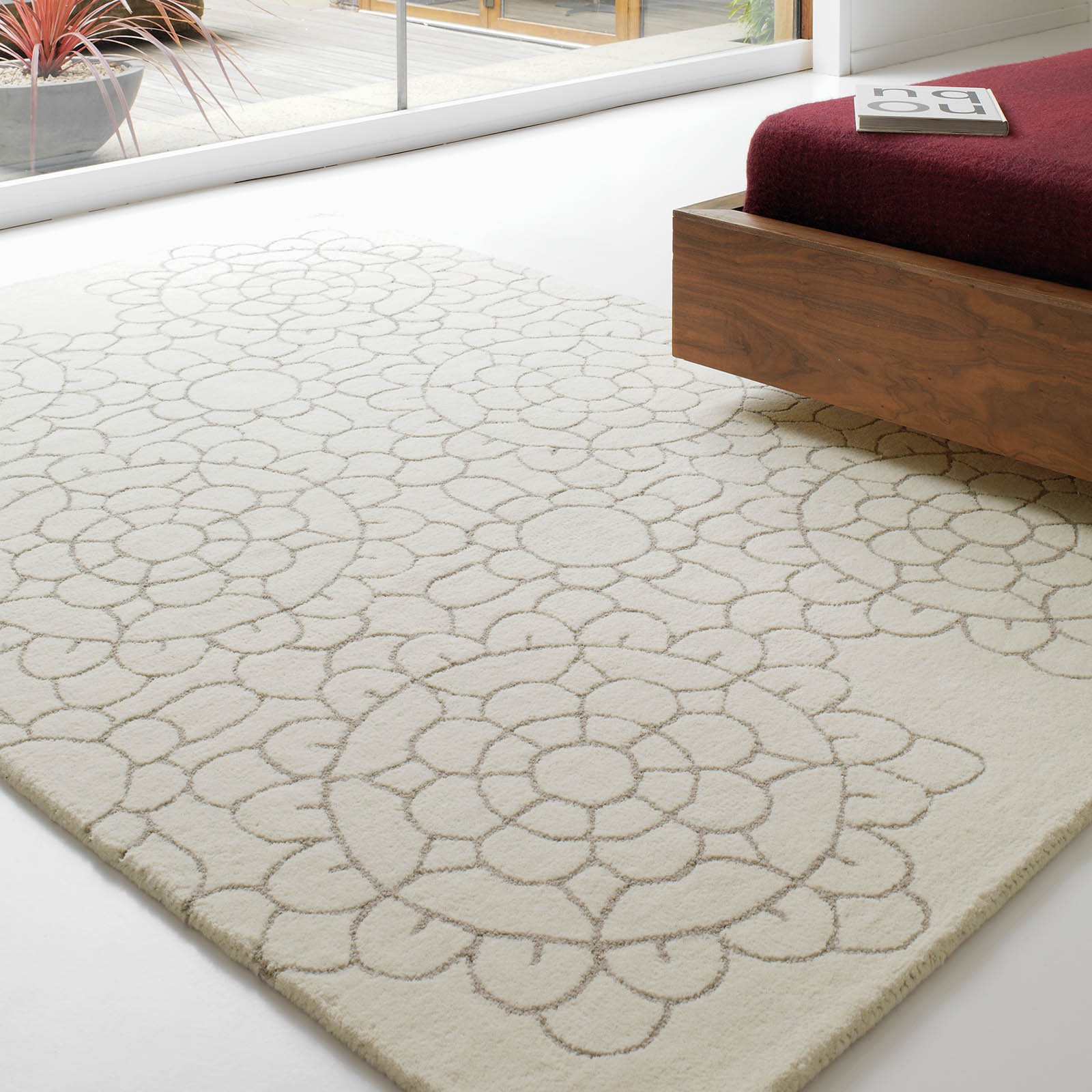 Matrix Crochet Rugs Max19 Cream Free Uk Delivery The Rug Seller In Cream Rugs (Image 12 of 15)