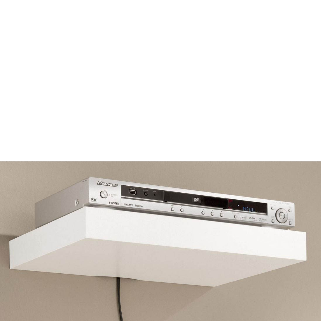 Media Shelving Kits Mastershelf With Floating Shelf 40cm (Image 7 of 15)