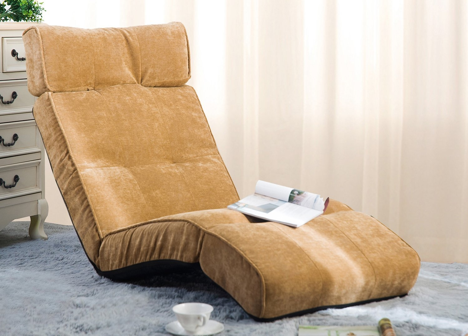 Merax Adjustable Folding Floor Couch Lounger Sofa Chair Folding With Lazy Sofa Chairs (Image 12 of 15)