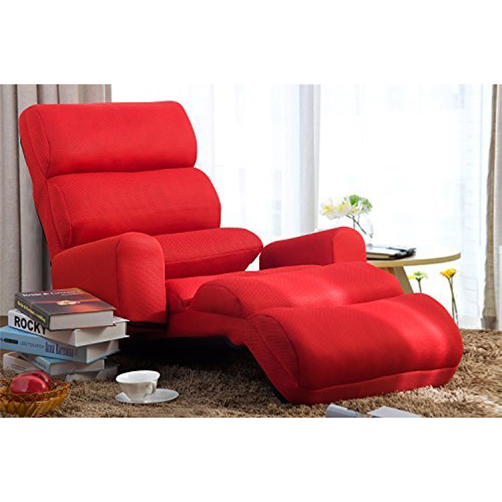 Merax Relaxing Foldable Lazy Sofa Chair With Pillow Stylish Sofa Regarding Lazy Sofa Chairs (Image 13 of 15)
