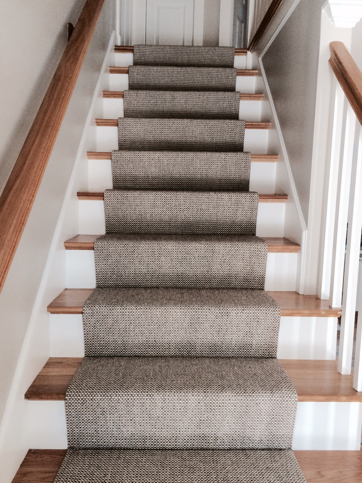 Merida Flat Woven Wool Stair Runner With Regard To Wool Stair Rug Treads (Image 7 of 15)