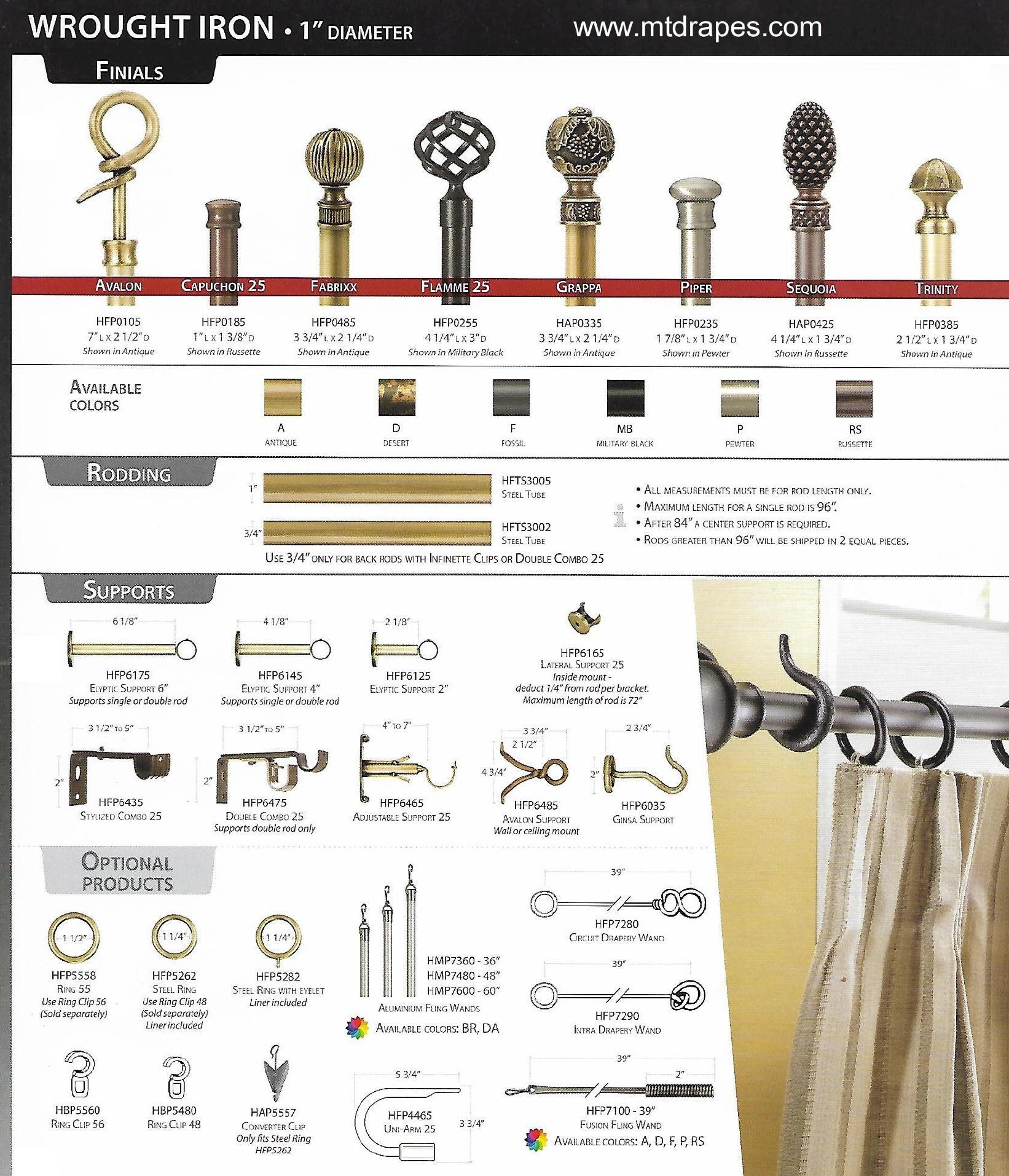 Metal Curtain Rod Finials For Metal Curtain Rod Finials (View 2 of 25)