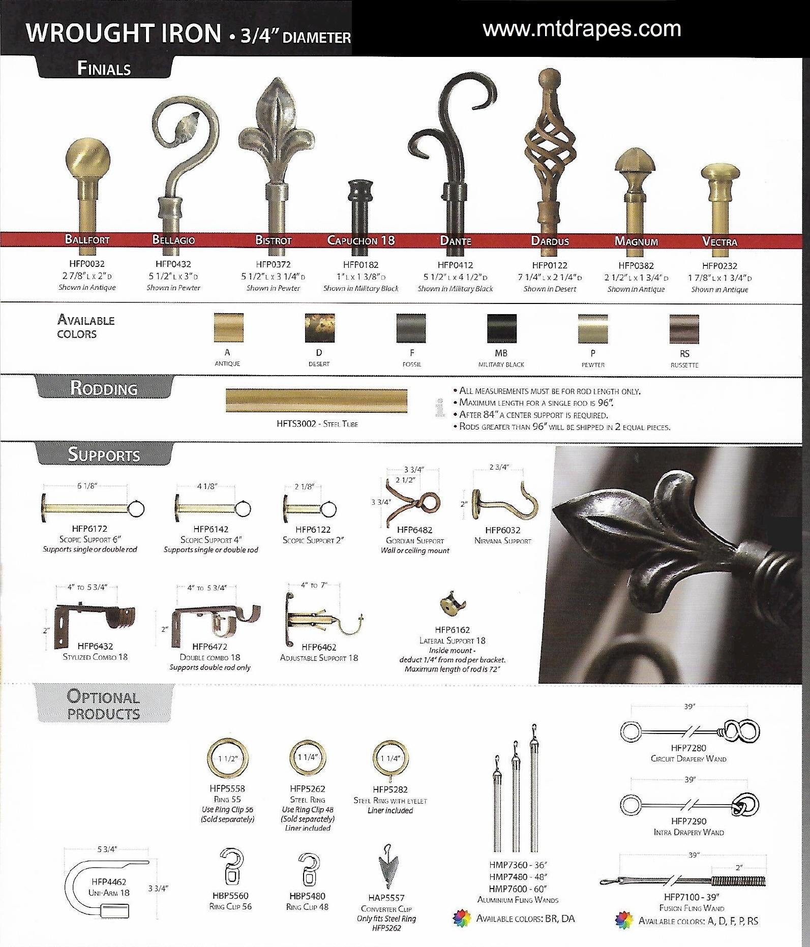Metal Curtain Rod Finials Within Metal Curtain Rod Finials (View 10 of 25)