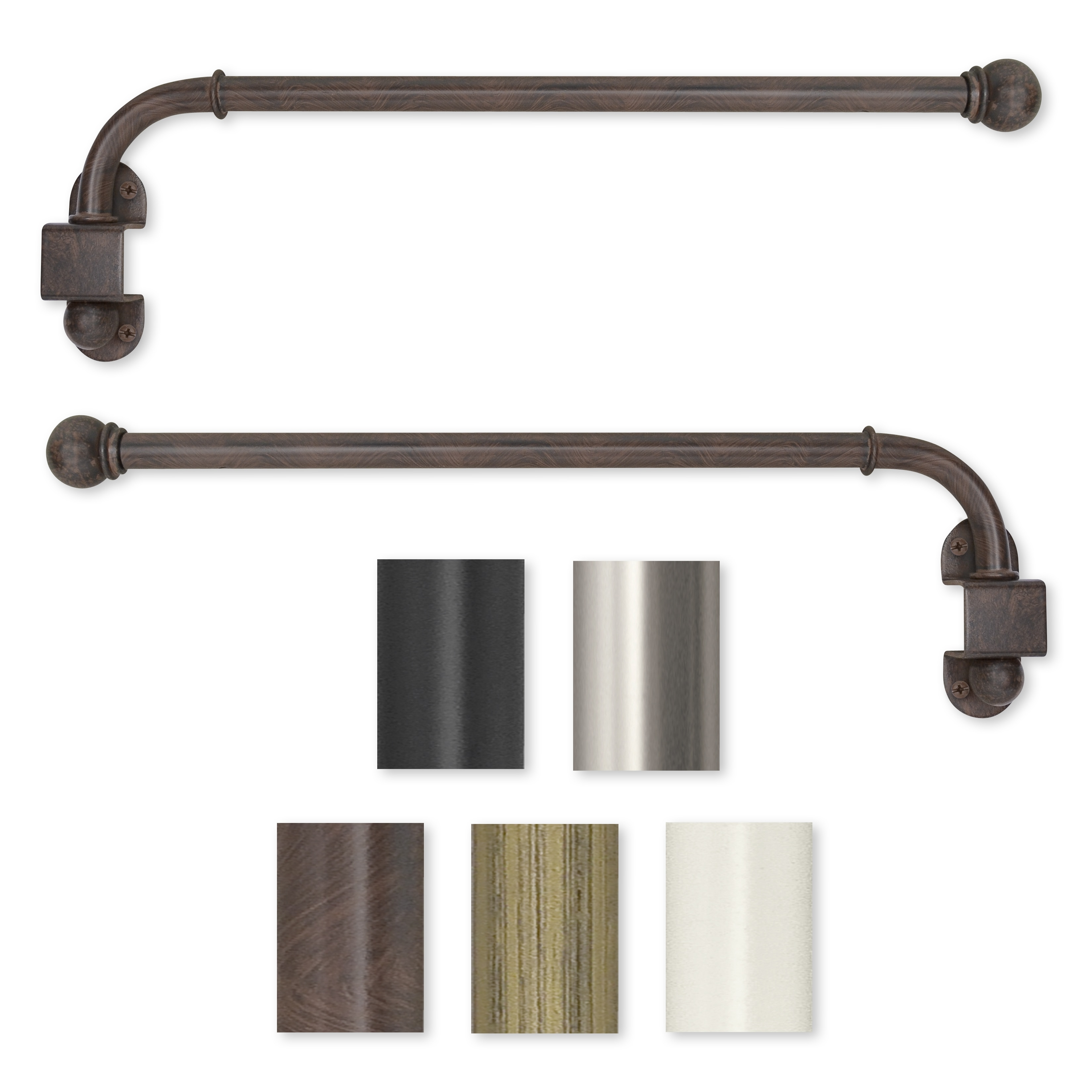 Metal Curtain Rods Nz Business For Curtains Decoration With Cafe Curtain Rods (Image 21 of 25)