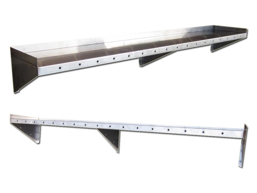Metal Floating Shelf Stylish Stainless Steel Floating Shelves In 50cm Floating Shelf (View 6 of 15)