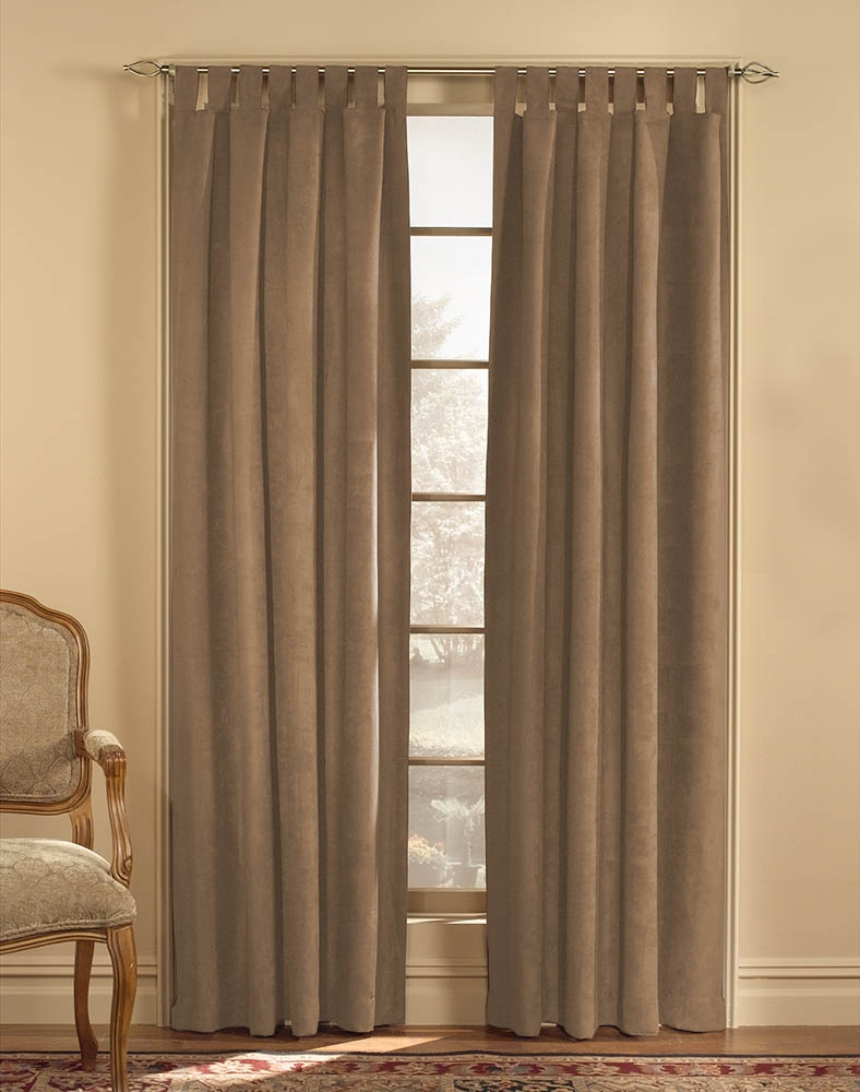 Microsuede Tab Top Wide Width Curtain Panel Curtainworks Regarding Faux Suede Curtain Panels (Image 15 of 25)