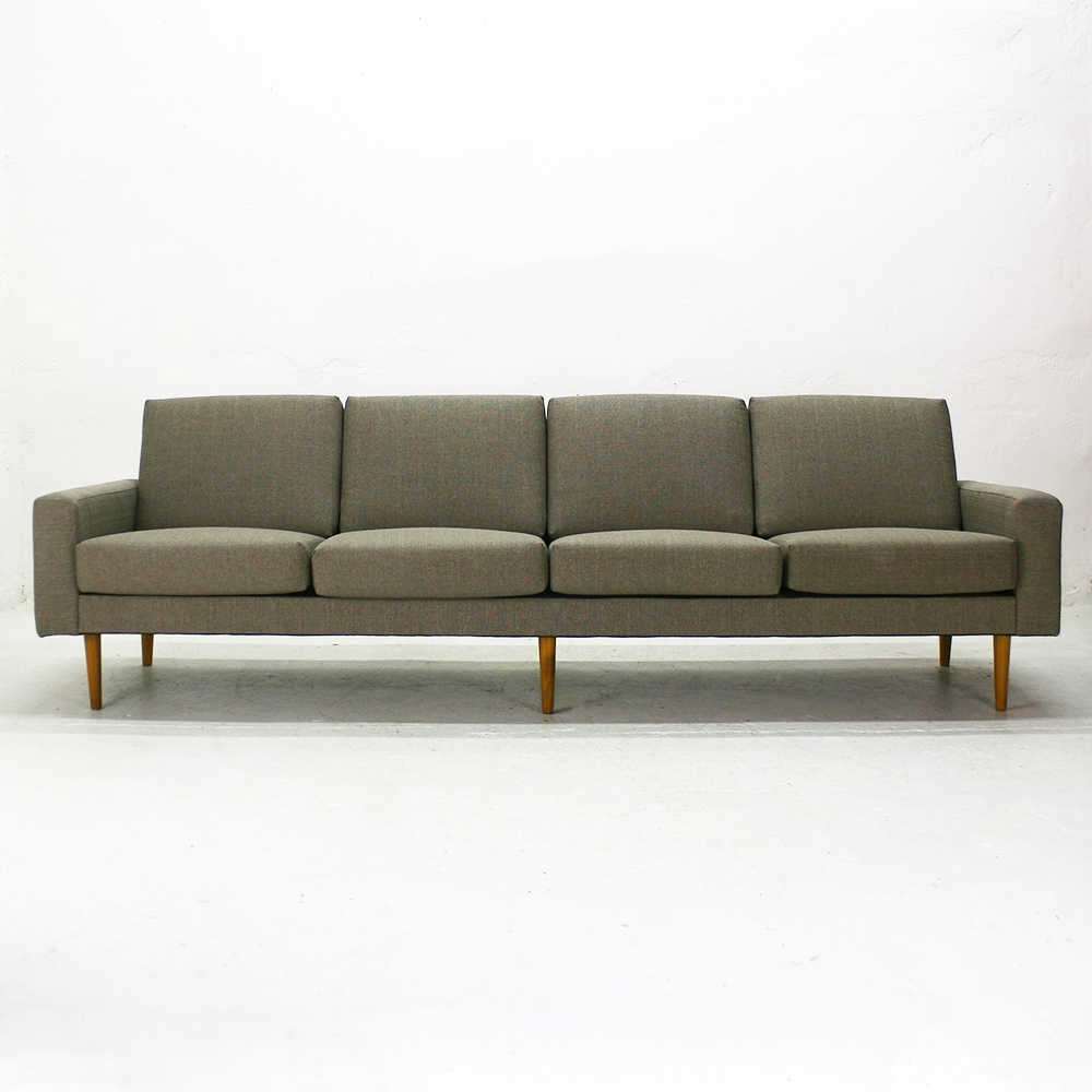 Mid Century Modern Four Seater Sofa For Sale At Pamono With Four Seater Sofas (Image 11 of 15)