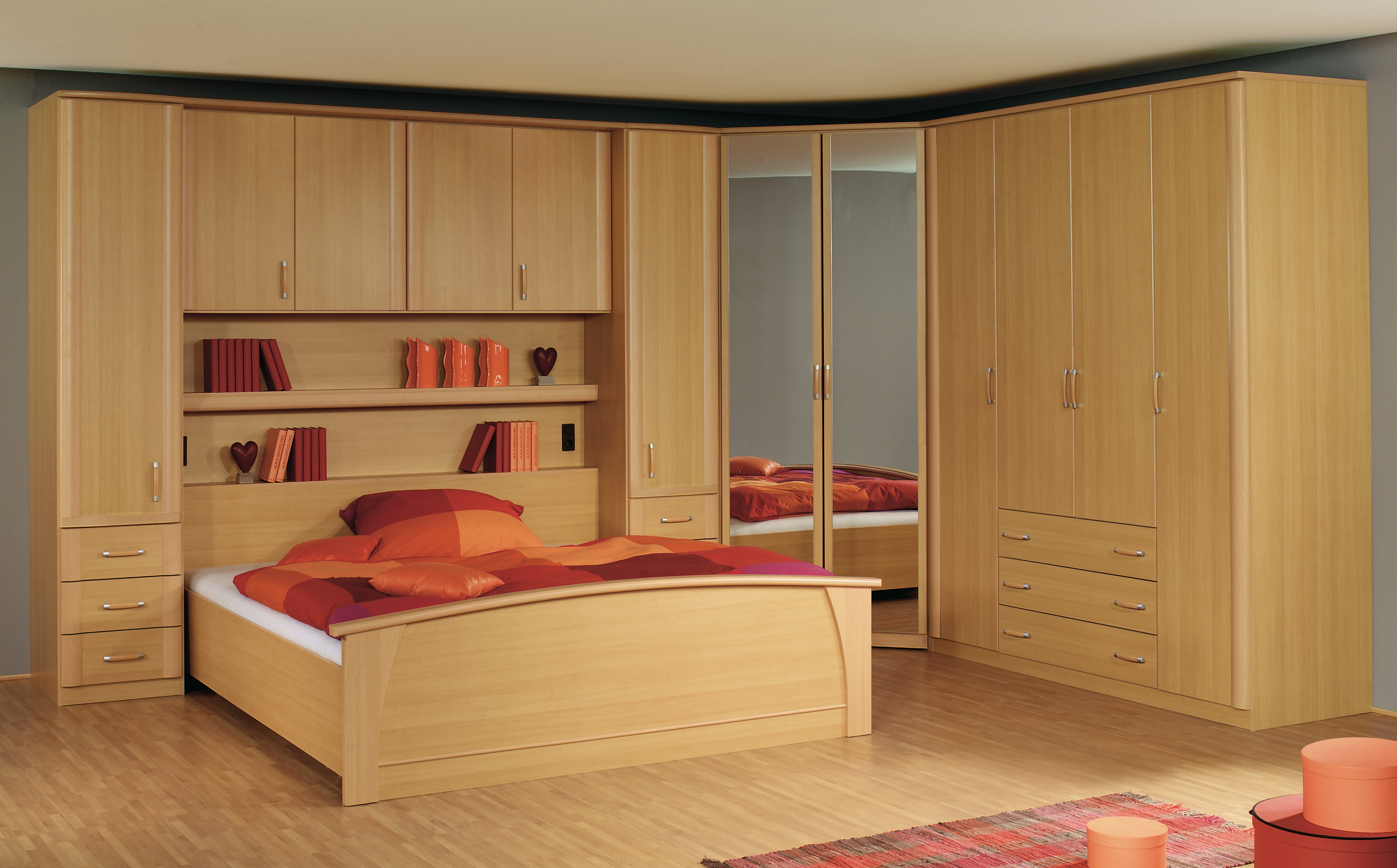 Milan Overbed Units From Falcon Furnishers With Regard To Overbed Wardrobes (Image 14 of 25)