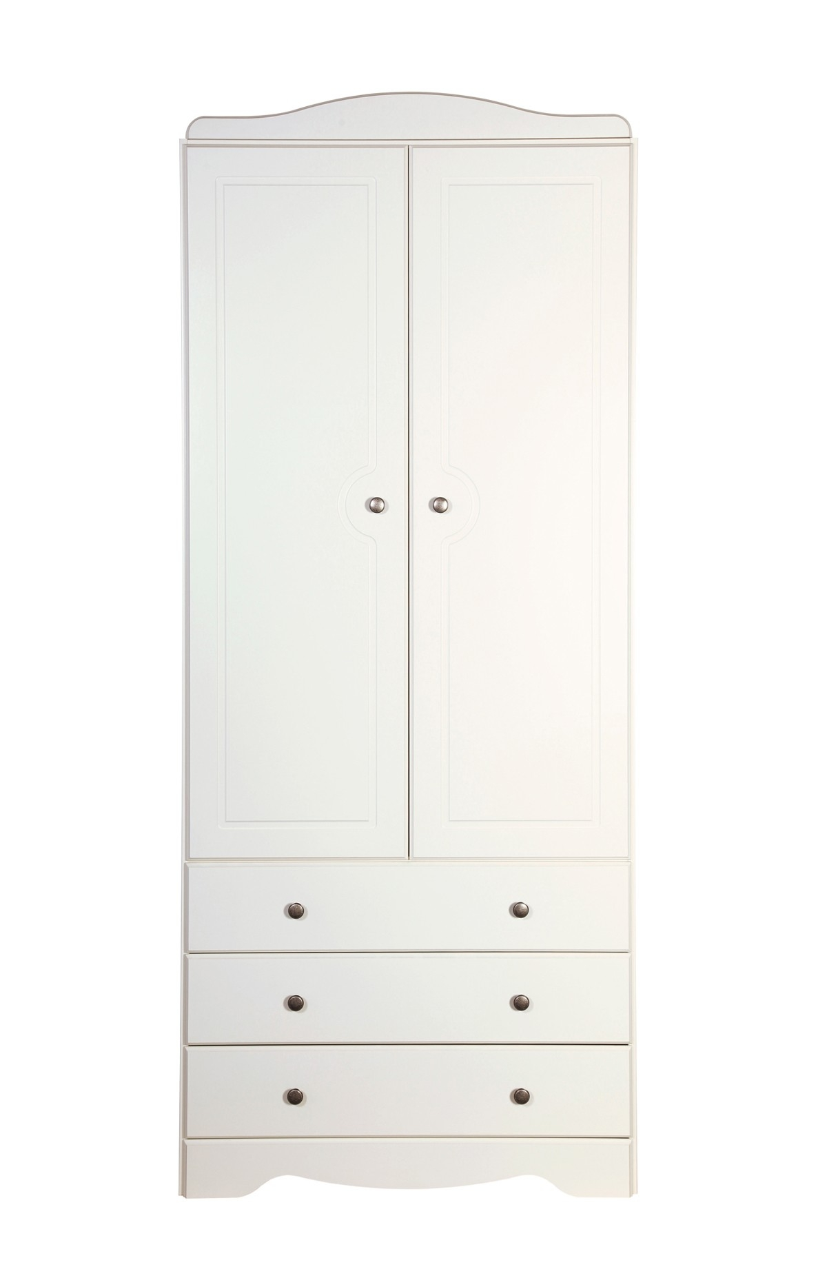 Milford 2 Door 3 Drawer Wardrobe White From The Original Factory Shop With Regard To 3 Door White Wardrobes (Image 13 of 25)