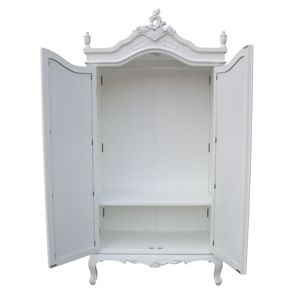 Mirrored Wardrobe Armoire Wardrobe Cabinet Style Double Armoire In White Wardrobe Armoire (Image 19 of 25)