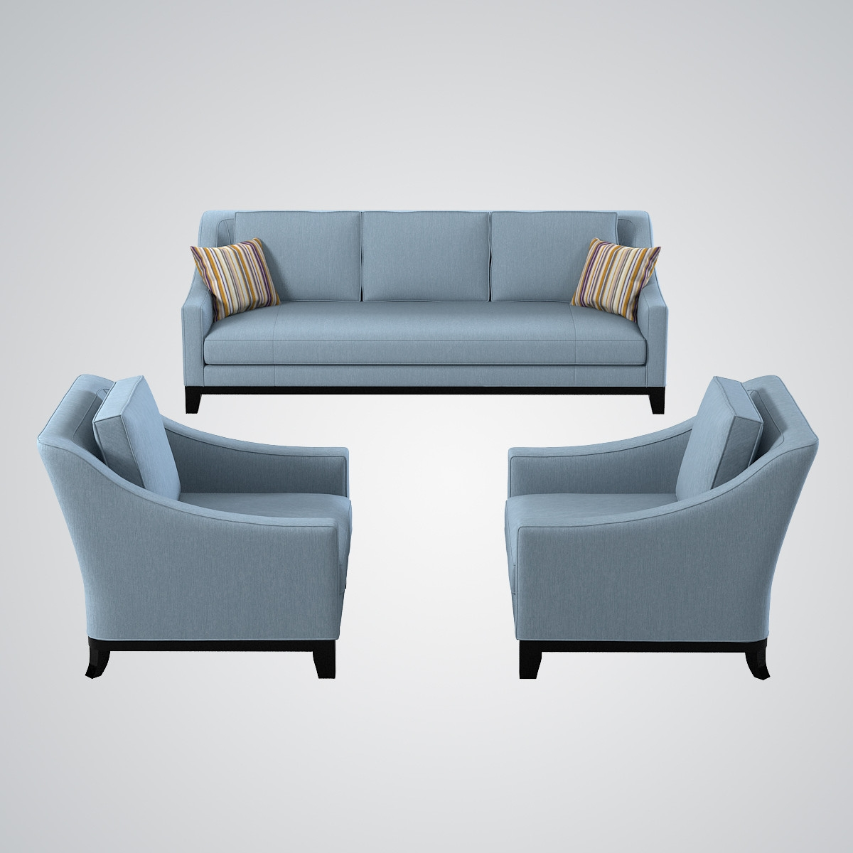 Model Baker Neue Sofa Chair With Regard To Sofa And Chair Set (Image 9 of 15)