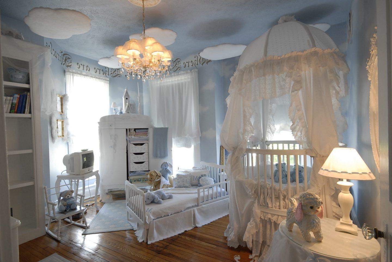 Modern Ba Girl Nursery Ideas Polyester Fiber Polka Dot Carpet Regarding Navy And White Polka Dot Curtains (Image 15 of 25)