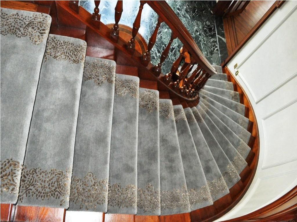 Modern Carpet Treads For Stairs With Maximum Safety John Intended For Carpet Treads For Stairs (View 15 of 15)