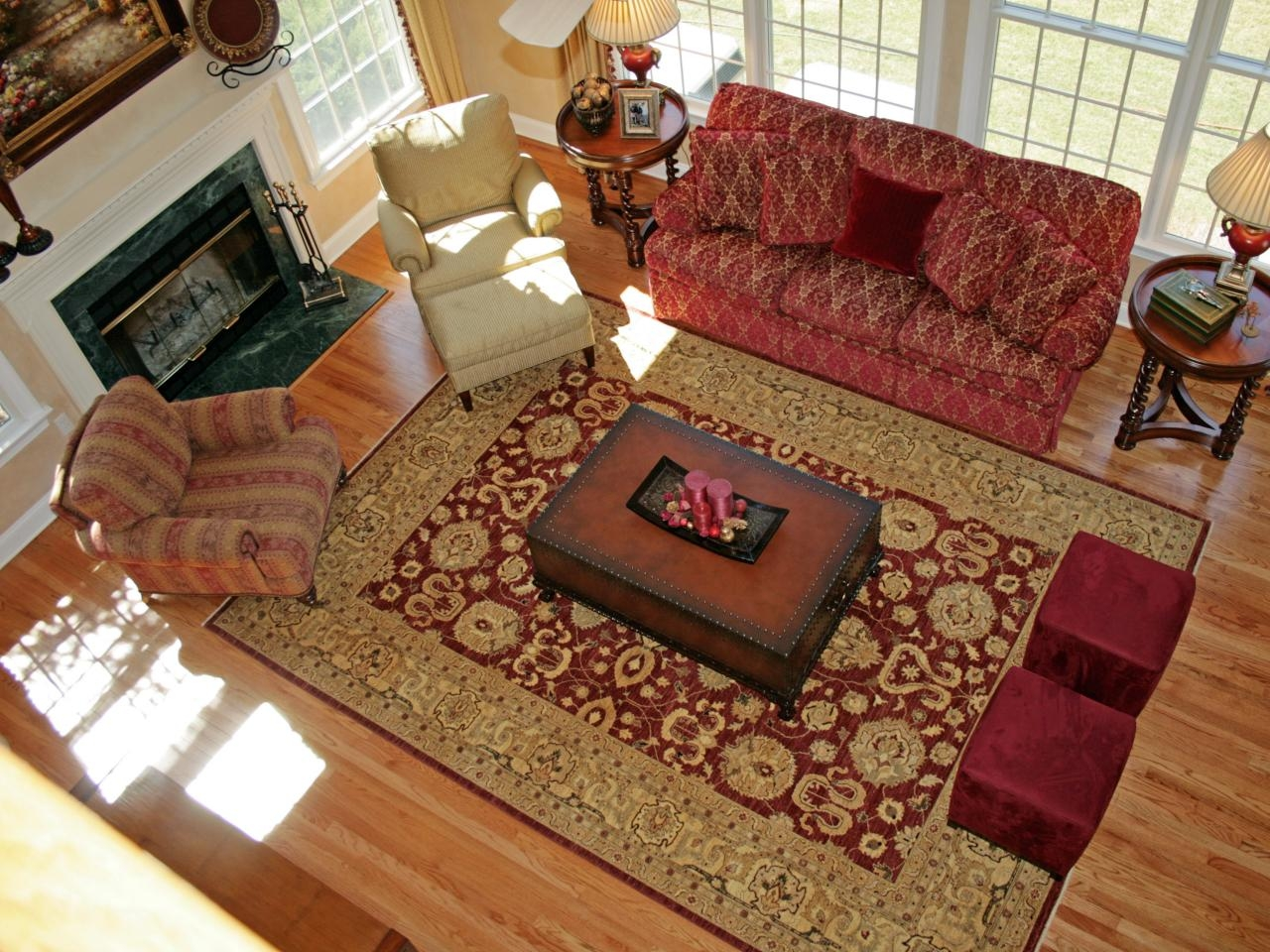 Modern Contemporary Red Area Rugs Inside Large Red Rugs (Image 4 of 15)