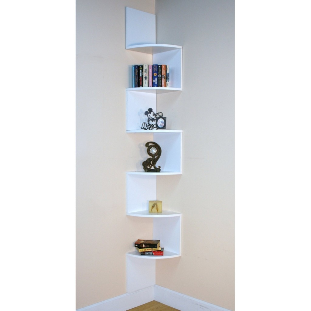 Modern Corner Shelves Regarding Large Glass Corner Shelves (Image 10 of 15)