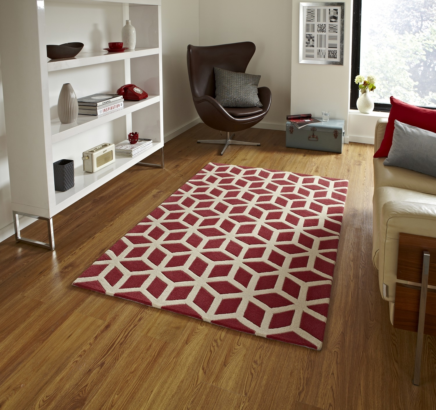 Modern Floor Rugs Regarding Large Geometric Rugs (View 11 of 15)