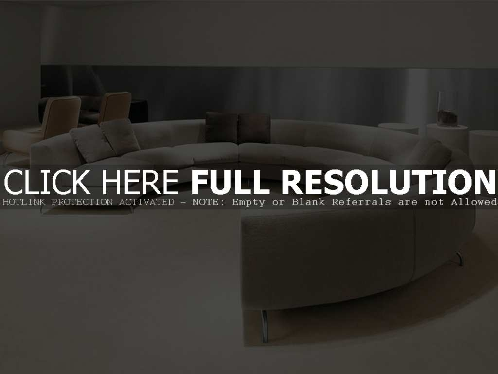 Modern Full Round Sofa Furniture With Circular Sofa Chairs (Image 5 of 15)