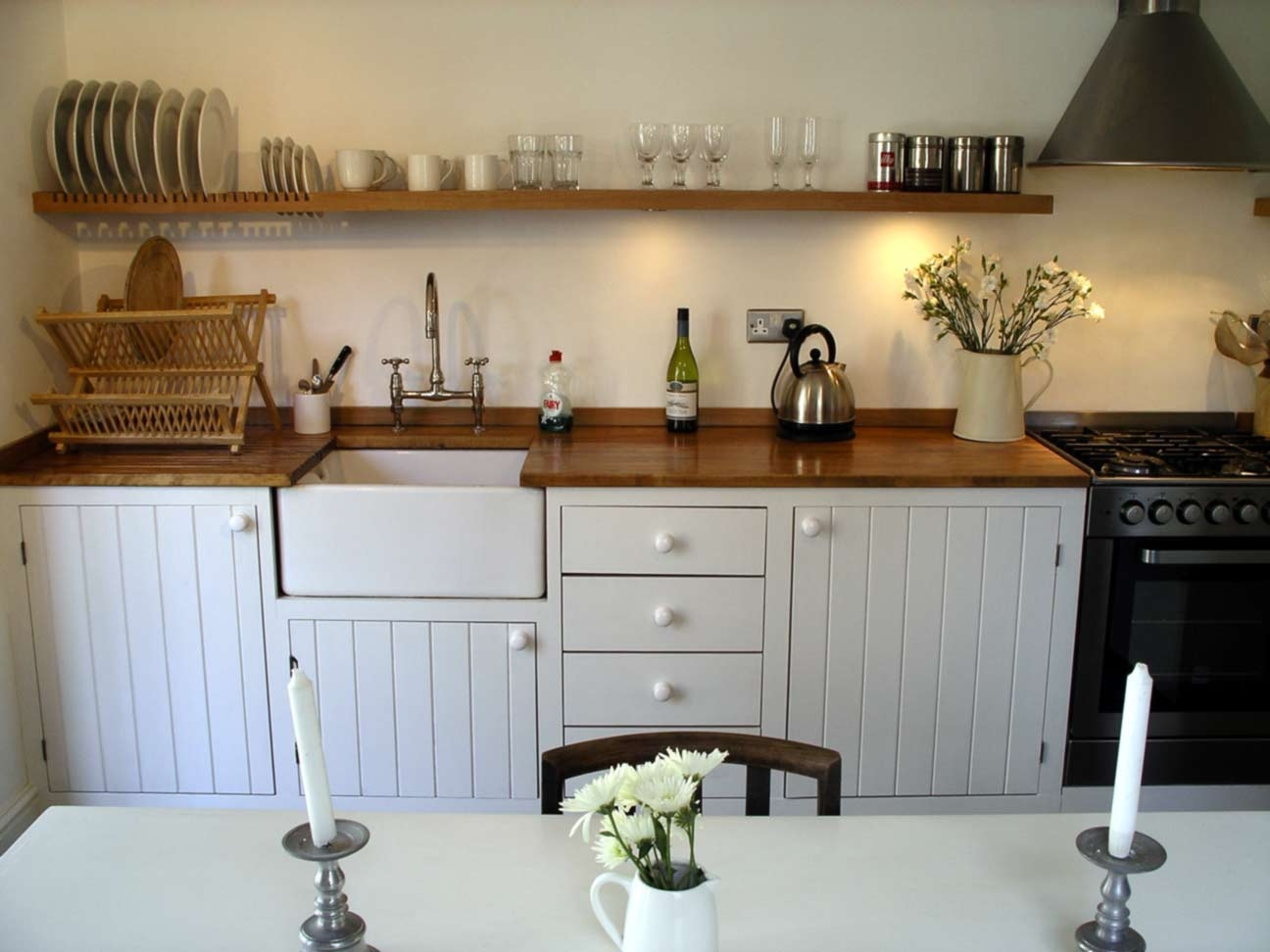 Modern Rustic Kitchen Hand Built Peter Henderson Furniture With Handmade Cupboards (Image 13 of 15)