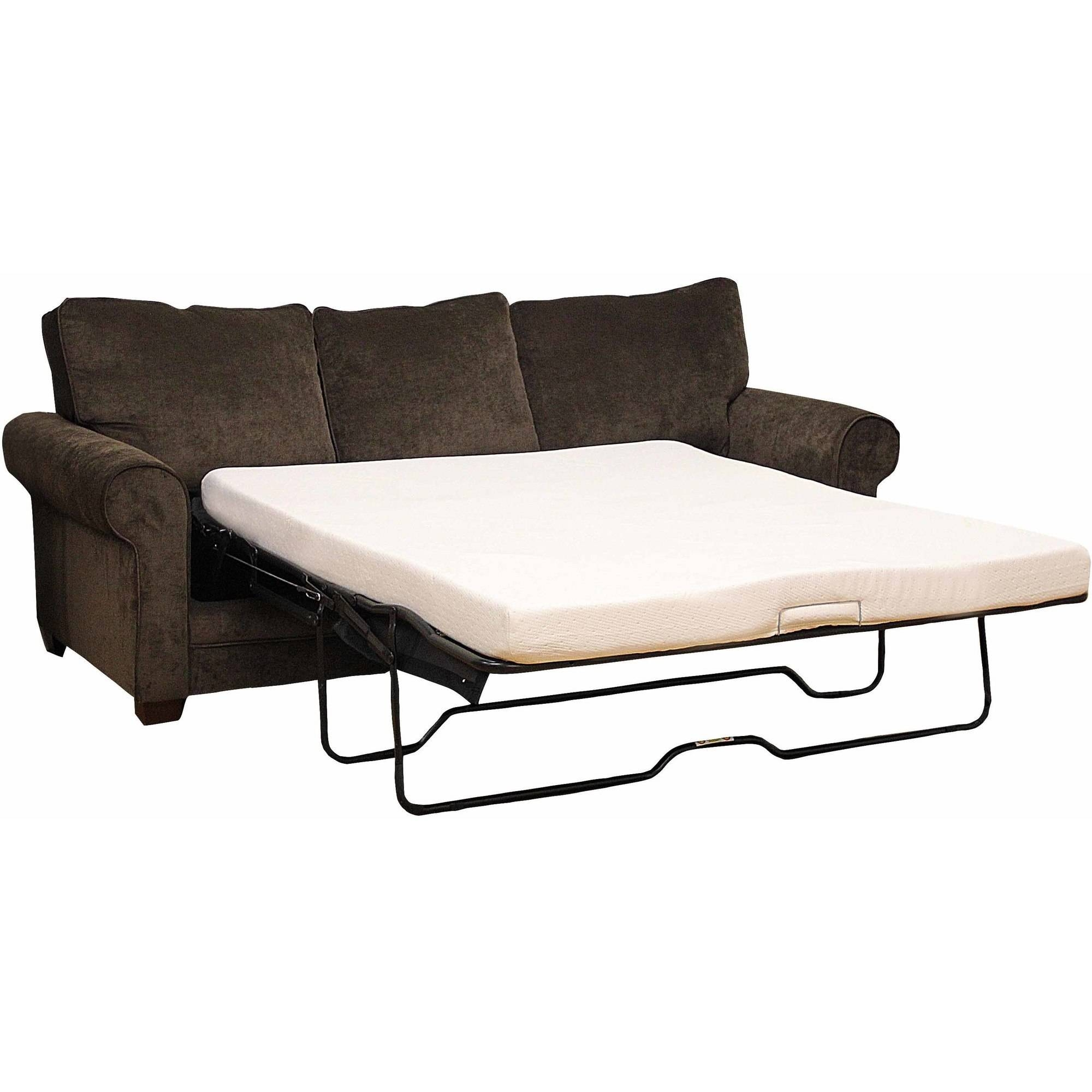 Modern Sleep Memory Foam 45 Sofa Bed Mattress Multiple Sizes Inside Pull Out Sofa Chairs (Image 14 of 15)