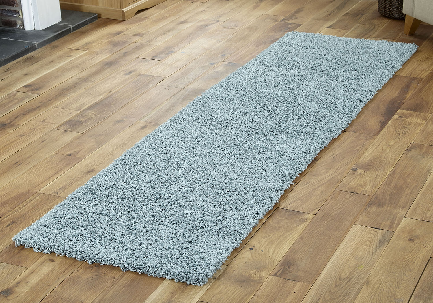 Modern Small Extra X Large Rug Thick 5cm Pile Duck Egg Blue Intended For Duck Egg Rugs (Image 9 of 15)