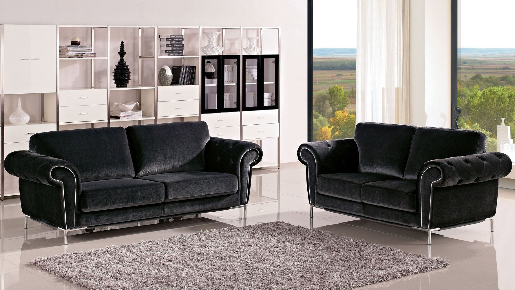 Modern Sofas Contemporary Sofas Modern Living Room Furniture Intended For Contemporary Sofas And Chairs (Image 11 of 15)