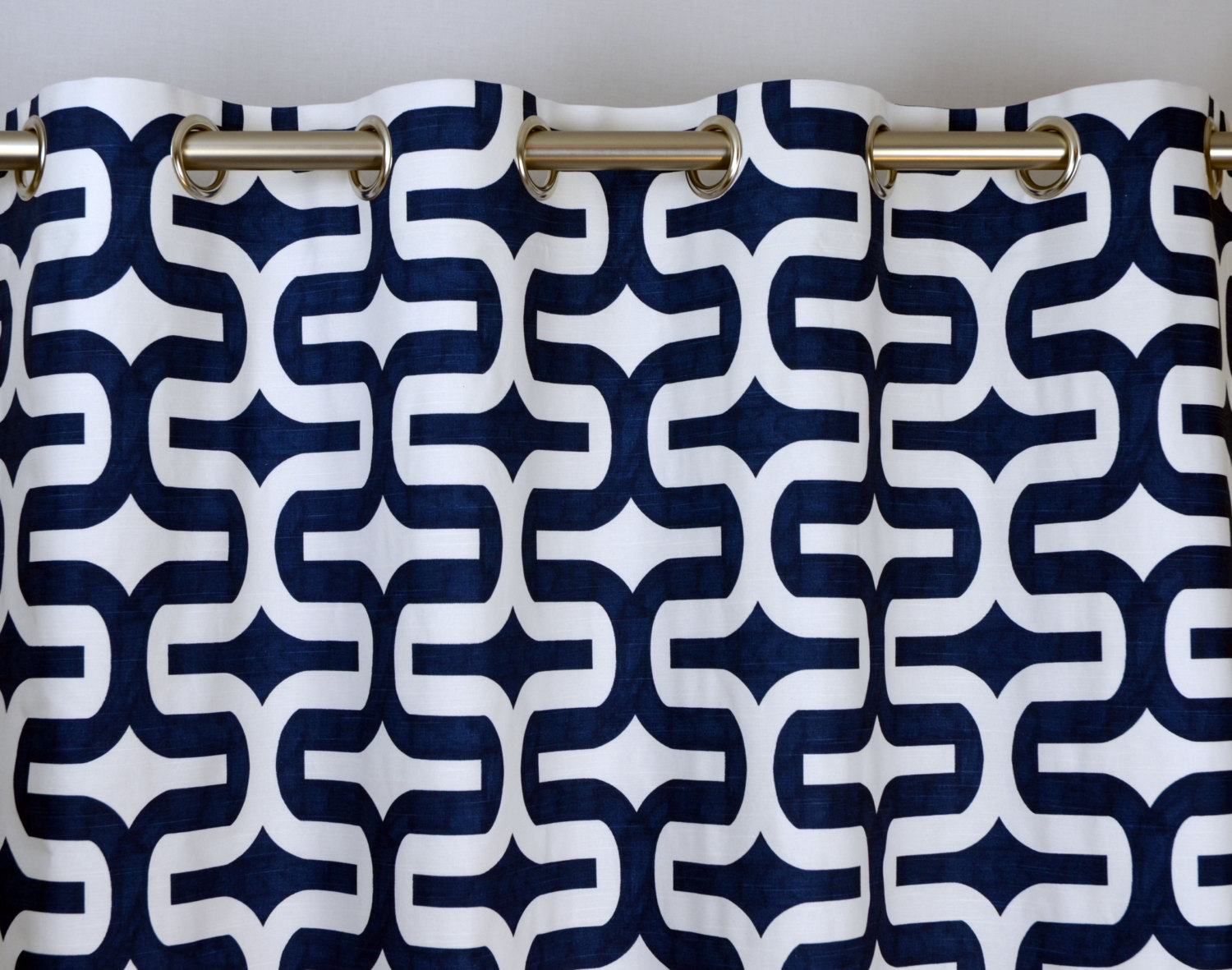 Modern White Blackout Curtains Best Curtain 2017 With Regard To Navy And White Curtains (Image 12 of 25)