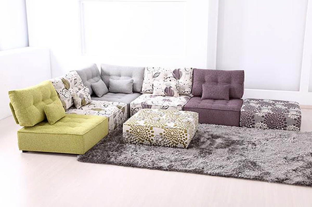 Modular Sofa Floor Cushions Modular Sofa Fama Interior Design With Comfy Floor Seating (Image 10 of 15)