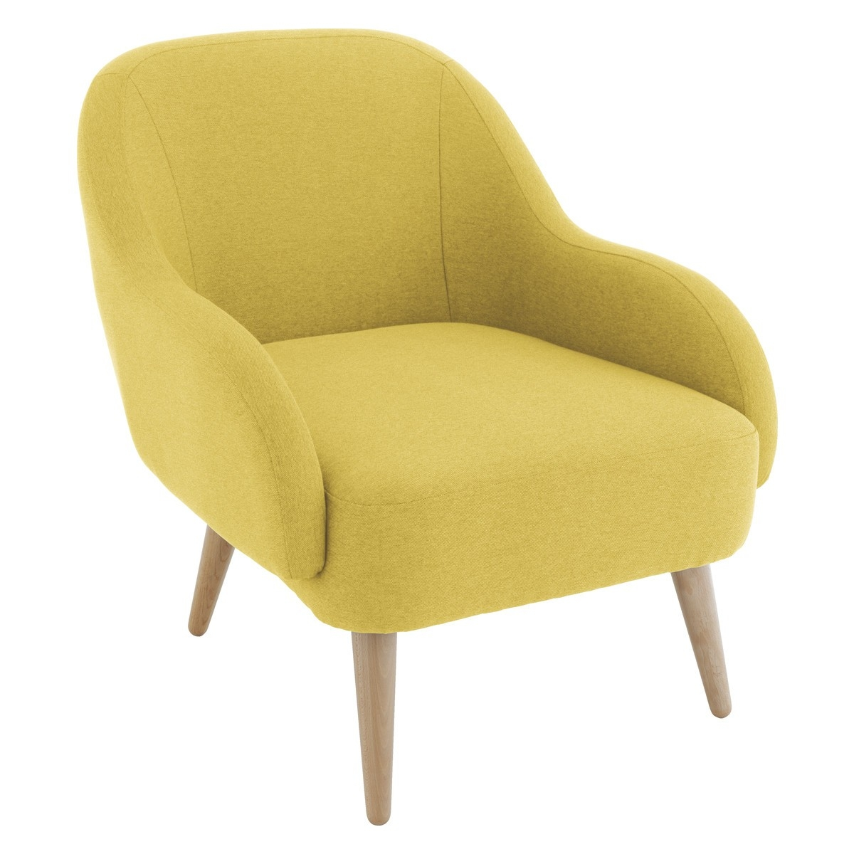 Momo Saffron Yellow Fabric Armchair Buy Now At Habitat Uk Within Fabric Armchairs (Image 14 of 15)