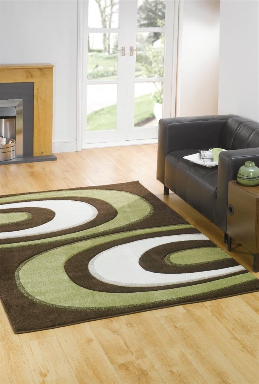 Monte Carlo Hunch Browngreen Abstract Rug Buy Rugs Online In The Uk Regarding Green And Brown Rugs (Image 12 of 15)