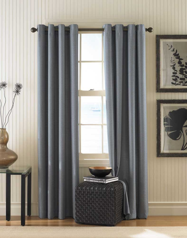 Monterey Textured Lined Grommet Drapery Curtainworks Pertaining To Linen Grommet Curtains (Image 15 of 25)