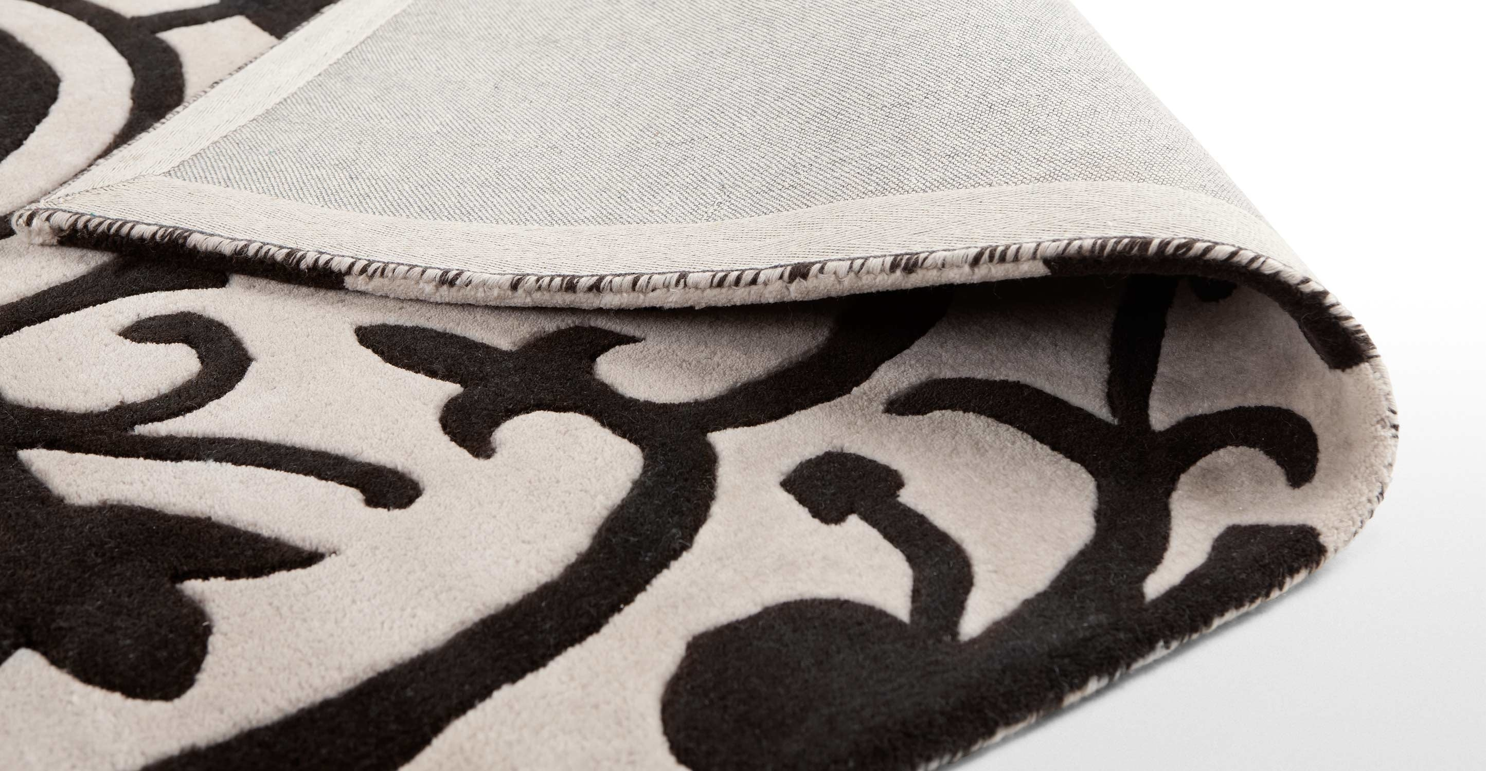 Moroc Rug 170 X 240cm In Cream And Black Made Intended For Cream And Black Rugs (Image 13 of 15)