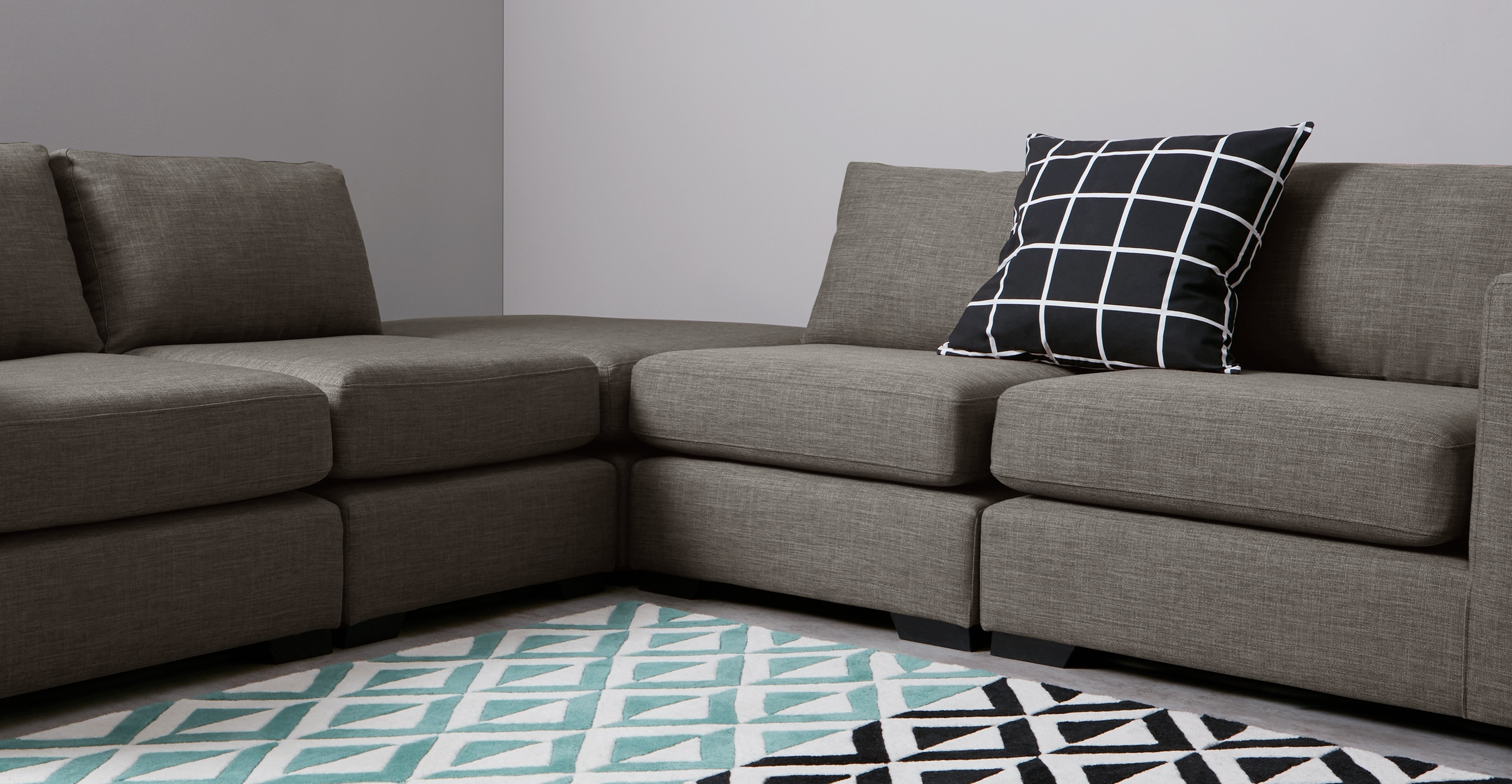 Mortimer Modular Corner Sofa Group Chalk Grey Made Inside Modular Corner Sofas (Image 14 of 15)