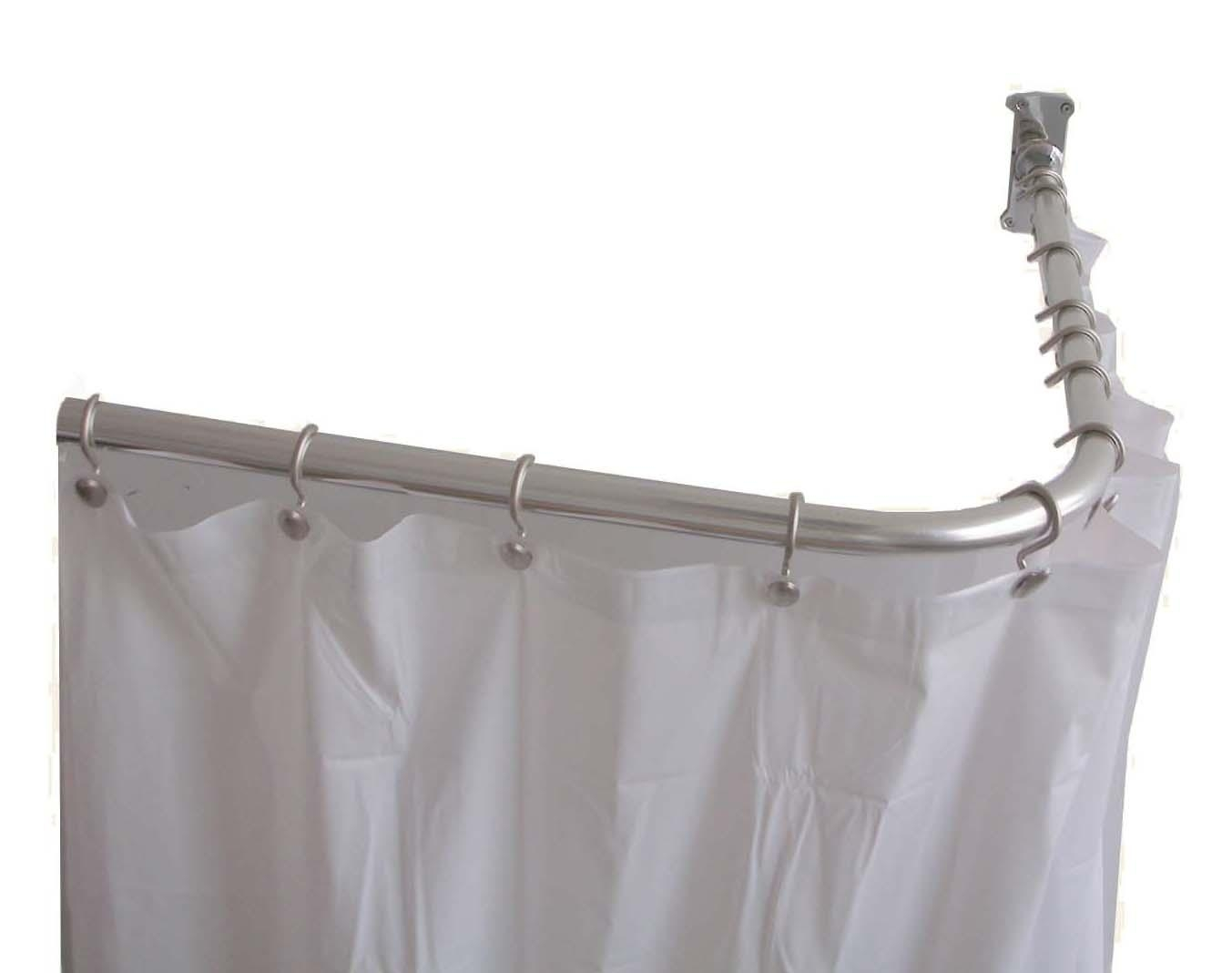 Most Decorative Shower Curtain Rods Best Home Decor Inspirations Within L Curtain Rods (Image 20 of 25)