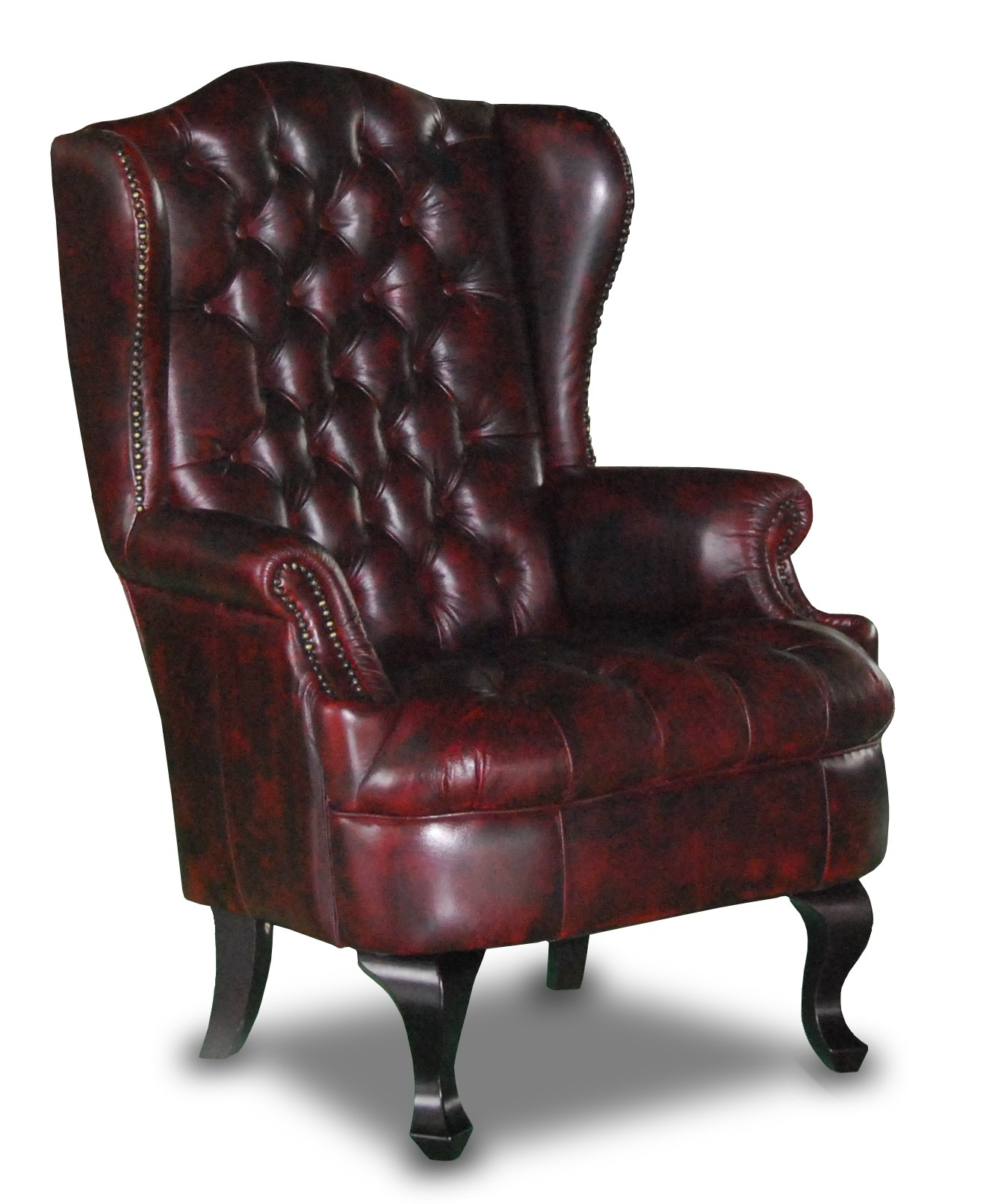 Nadia Leather Chesterfield Wing Chair Ideas For My Living Room In Chesterfield Recliners (View 9 of 15)