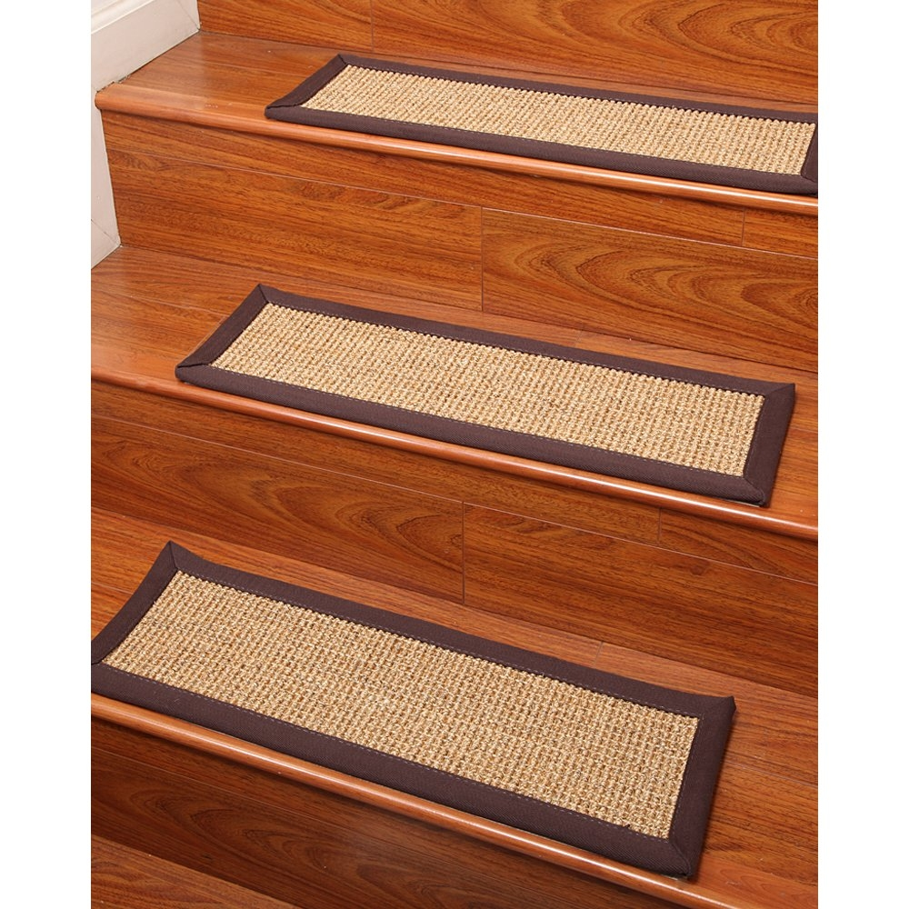 Natural Area Rugs Sisal Casual Living Stair Treads Reviews Wayfair Pertaining To Oval Stair Tread Rugs (Image 13 of 15)