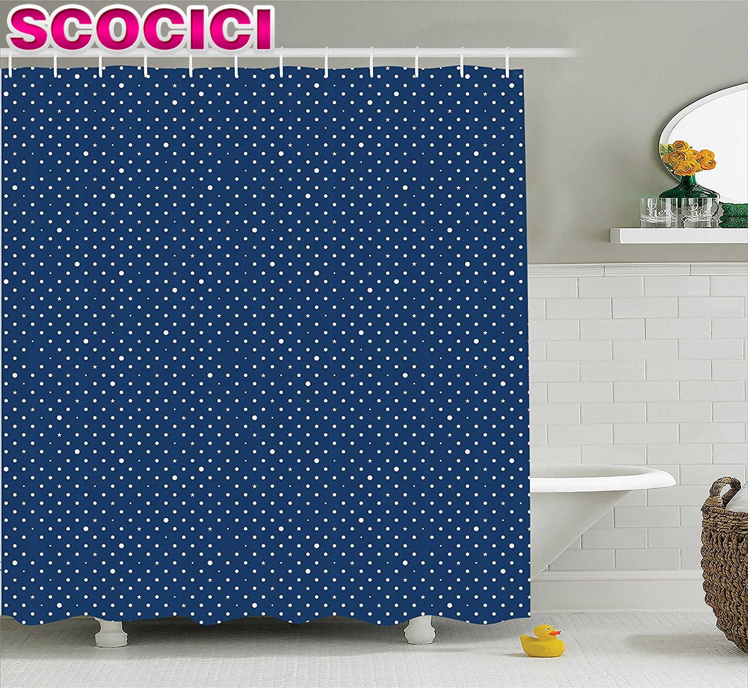Navy Blue And White Polka Dot Shower Curtain Curtain Menzilperde In Navy And White Polka Dot Curtains (Image 17 of 25)