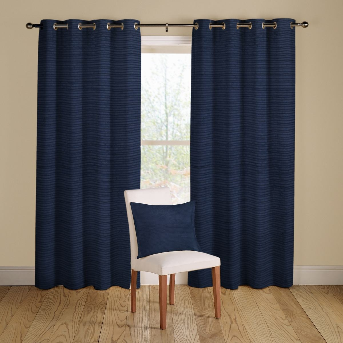 Navy Blue Curtains Pertaining To Navy And White Curtains (Image 17 of 25)