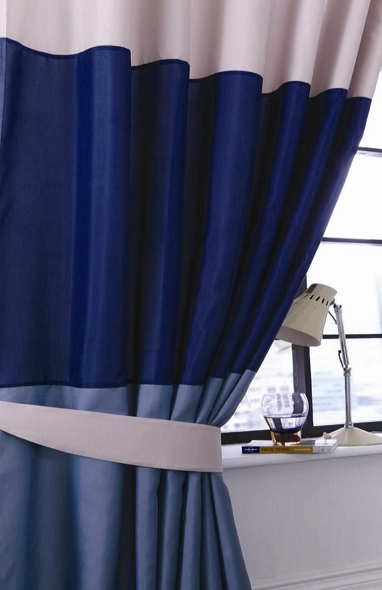 Navy Blue Curtains Uk Curtain Menzilperde With Regard To Navy And White Curtains (Image 18 of 25)