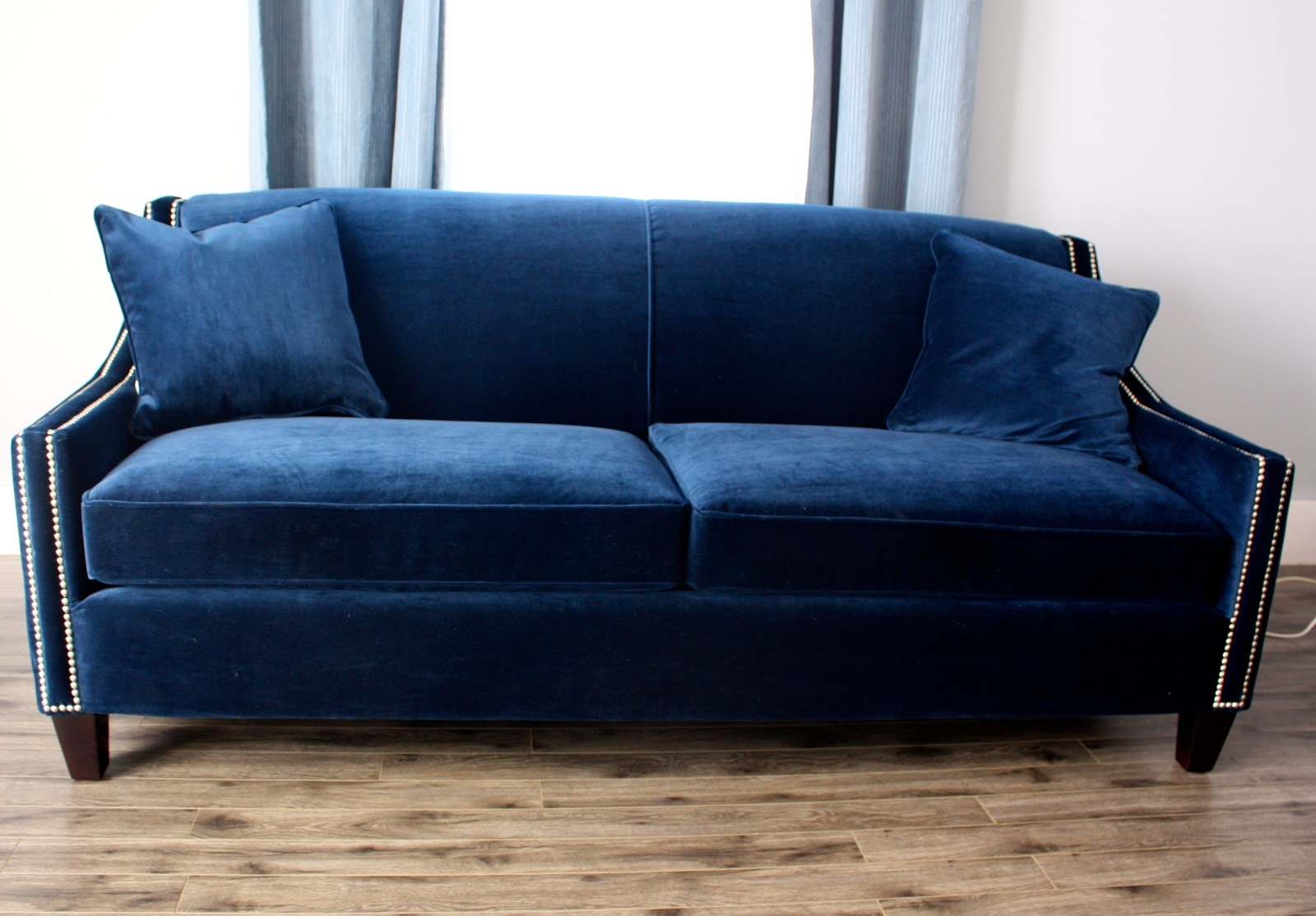 Navy Blue Sofa Slipcover Best Home Furniture Ideas Inside Blue Sofa Chairs (Image 12 of 15)