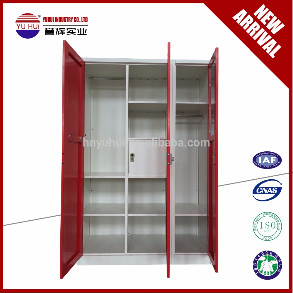 New Design Bedroom Furniture Clothes Almirah Metal Wardrobe Within Metal Wardrobes (View 25 of 25)