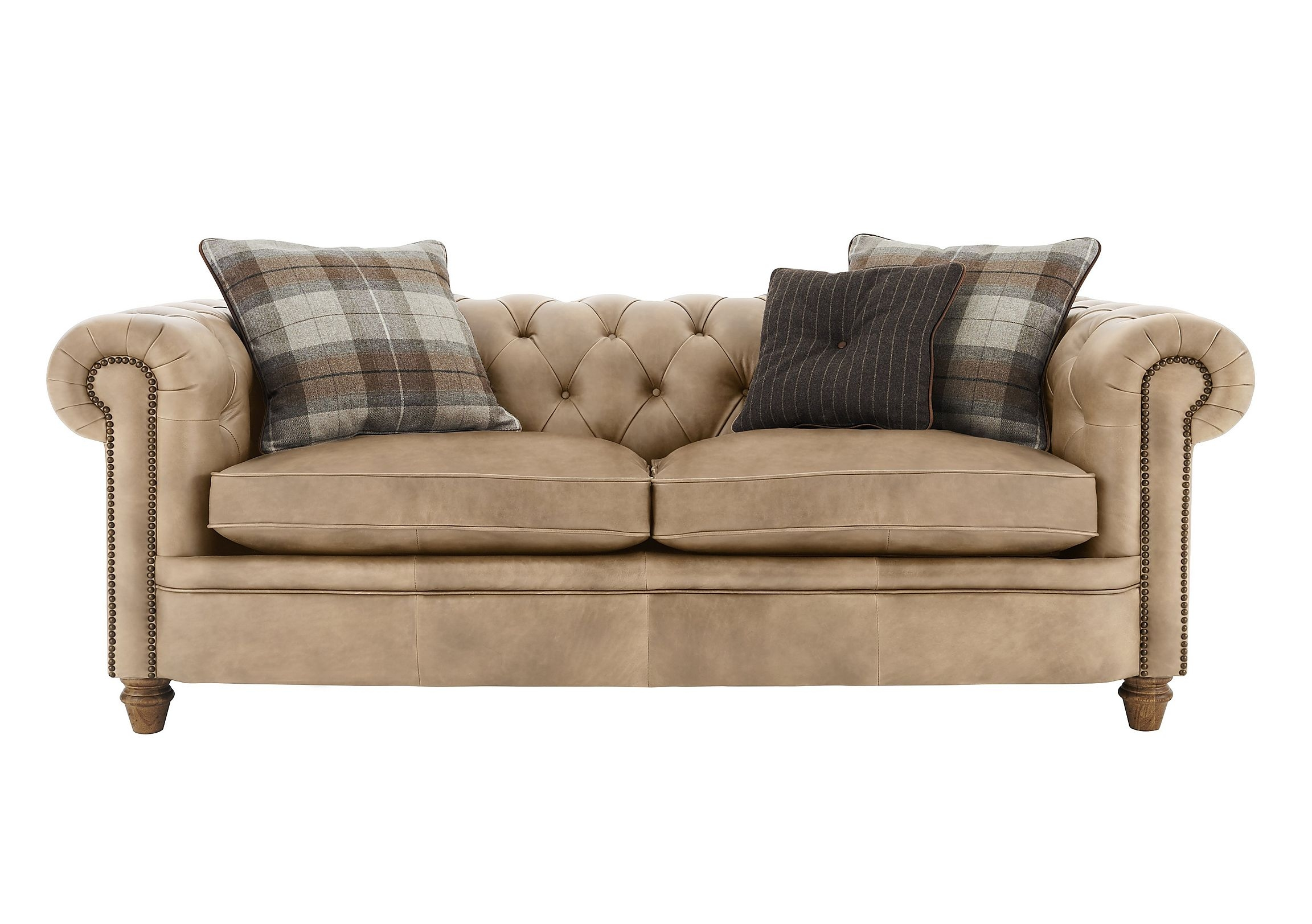 New England Newport 3 Seater Leather Sofa Furniture Village In Newport Sofas (Image 6 of 15)