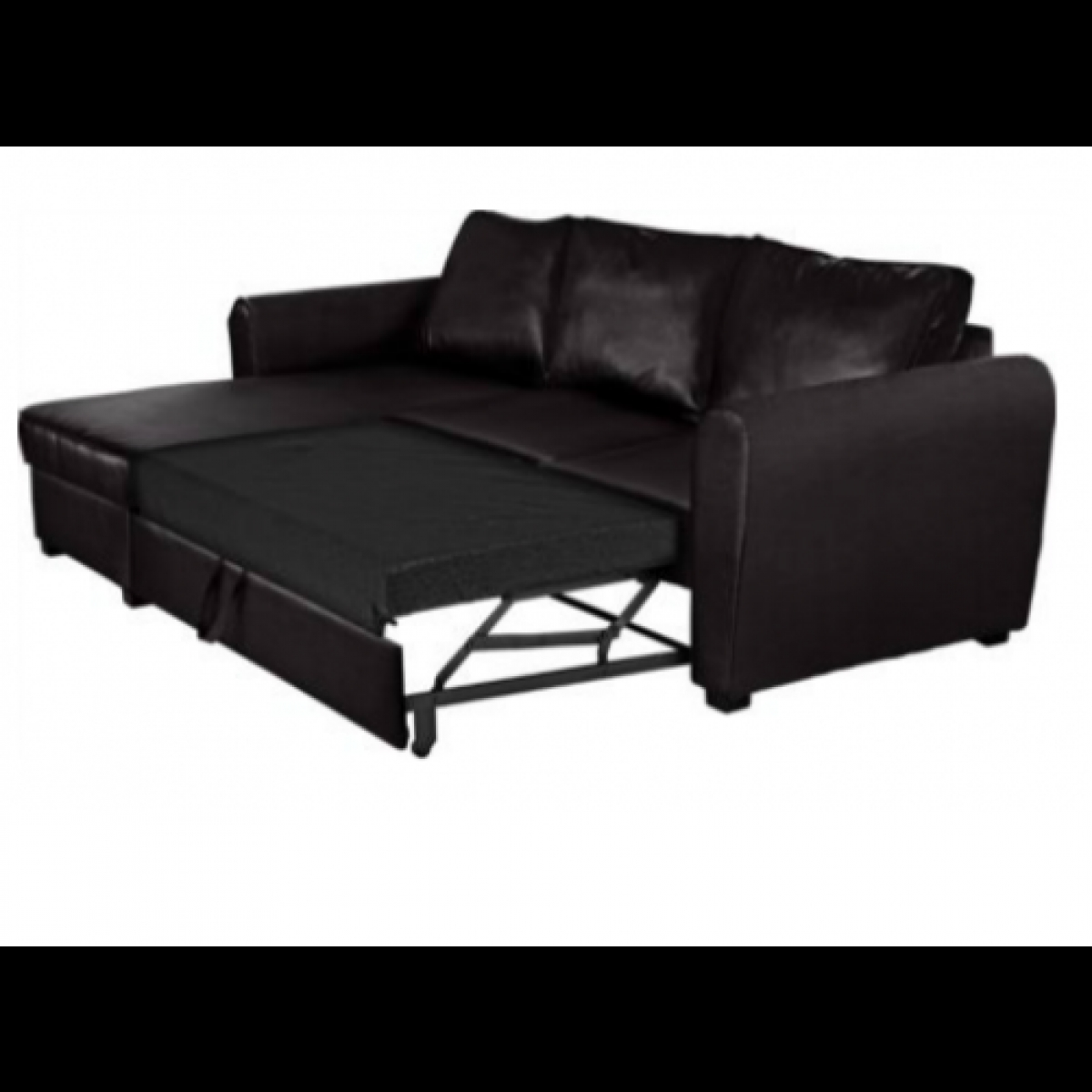 New Siena Fabric Corner Sofa Bed With Storage Charcoal With Regard To Fabric Corner Sofa Bed (Image 13 of 15)